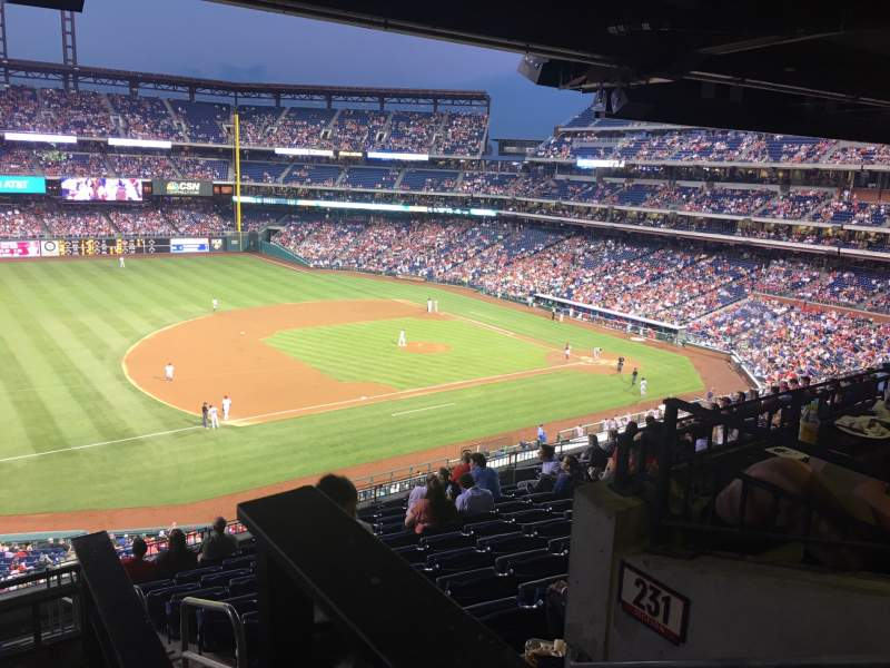 Seating view for Citizens Bank Park Section 232 Row 9 Seat 1