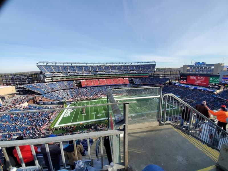 Seating view for Gillette Stadium Section 333 Row 8 Seat 1