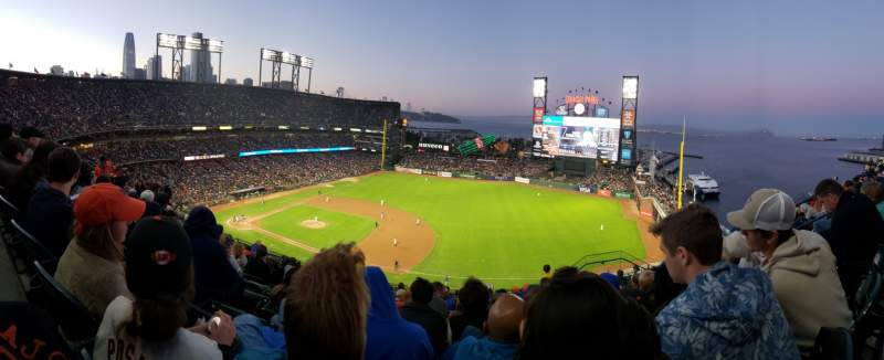 Seating view for Oracle Park Section VR305 Row 8 Seat 8