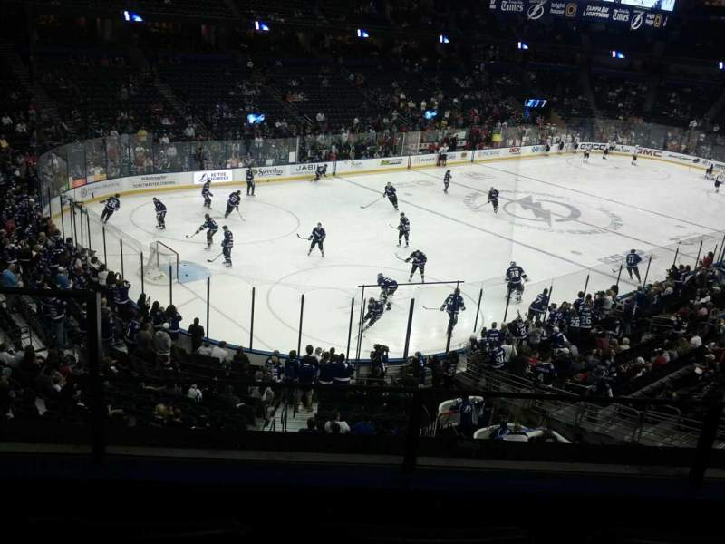 Seating view for Amalie Arena Section CLB1 Row C Seat 13