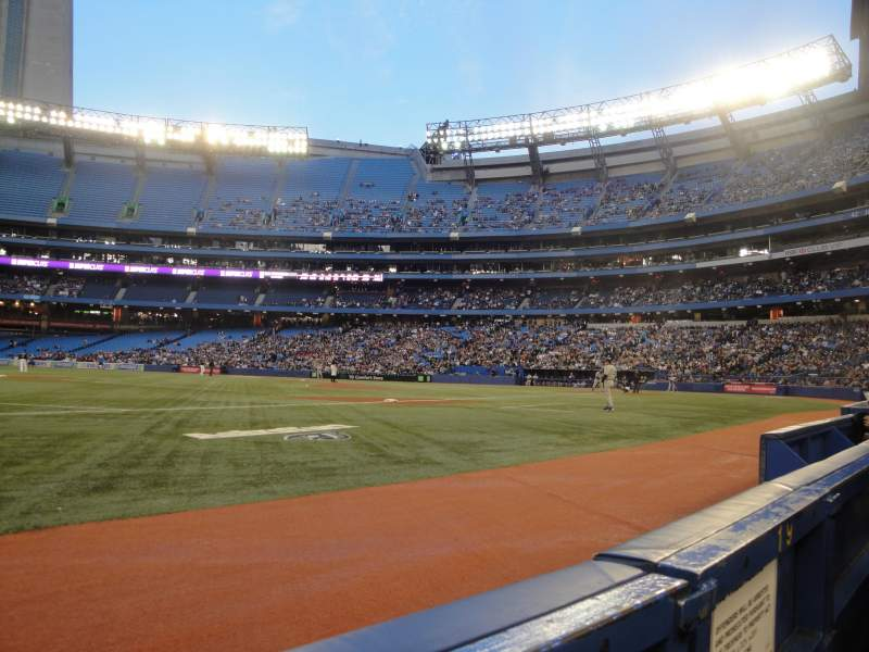 Seating view for Rogers Centre Section 129L Row 1 Seat 103
