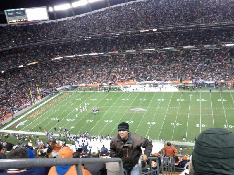 Seating view for Sports Authority Field at Mile High Section 505 Row 21 Seat 26