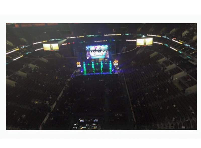 Seating view for Wells Fargo Center Section Floor 4 Row 1 Seat 5