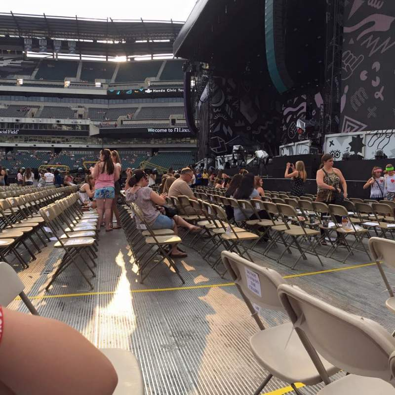 Seating view for Lincoln Financial Field Section F6 Row 7 Seat 4
