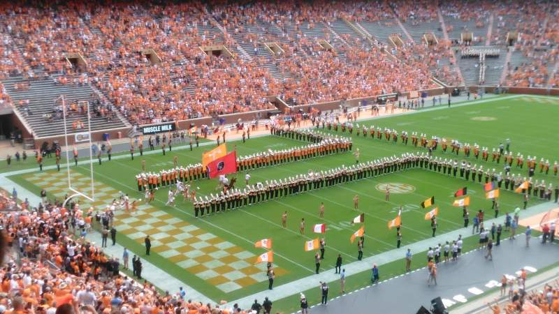 Seating view for Neyland Stadium Section X4 Row 50 Seat 28 & 27