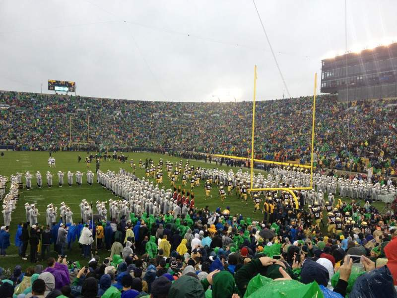 Seating view for Notre Dame Stadium Section 2 Row 25 Seat 10