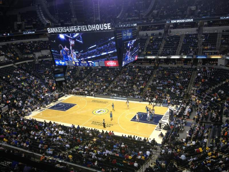 Seating view for Bankers Life Fieldhouse Section 223 Row 1 Seat 4