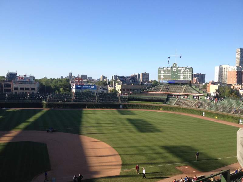 Seating view for Wrigley Field Section 429 Row 2 Seat 9