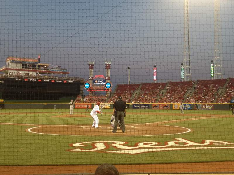 Seating view for Great American Ball Park Section 2 Row 4 Seat A