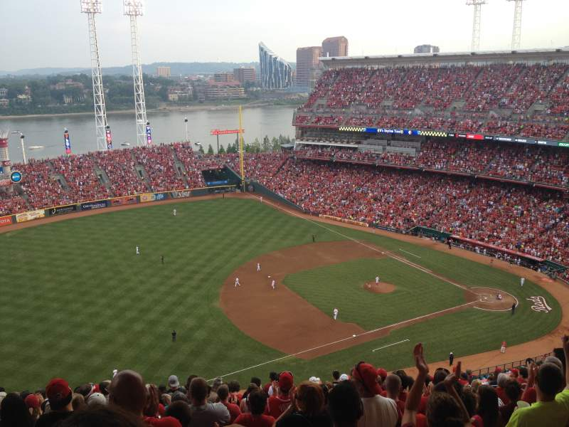 Seating view for Great American Ball Park Section 514 Row R Seat 11