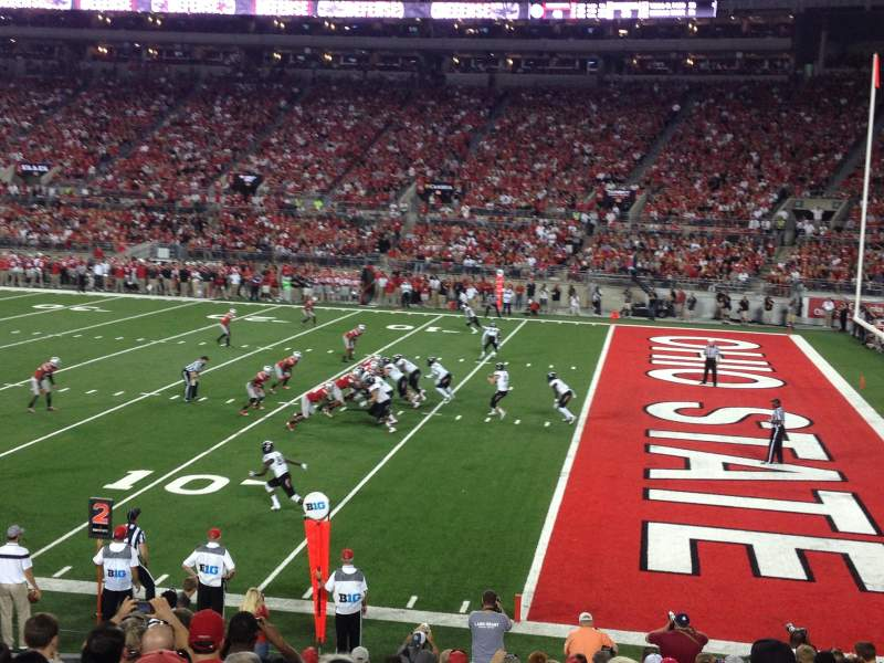 Seating view for Ohio Stadium Section 14A Row 5 Seat 17