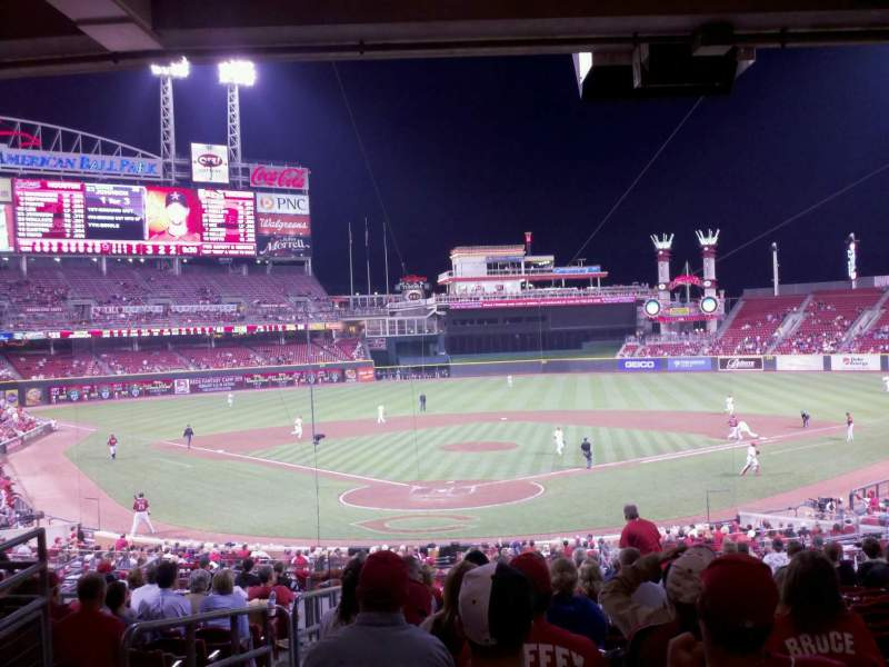 Seating view for Great American Ball Park Section 124 Row O Seat 17