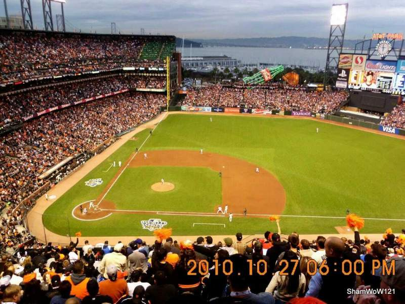 Seating view for Oracle Park Section VR308 Row 14 Seat 5