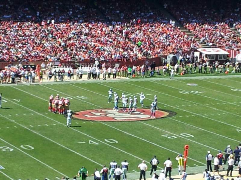 Seating view for Candlestick Park Section UB 31 Row B Seat 14