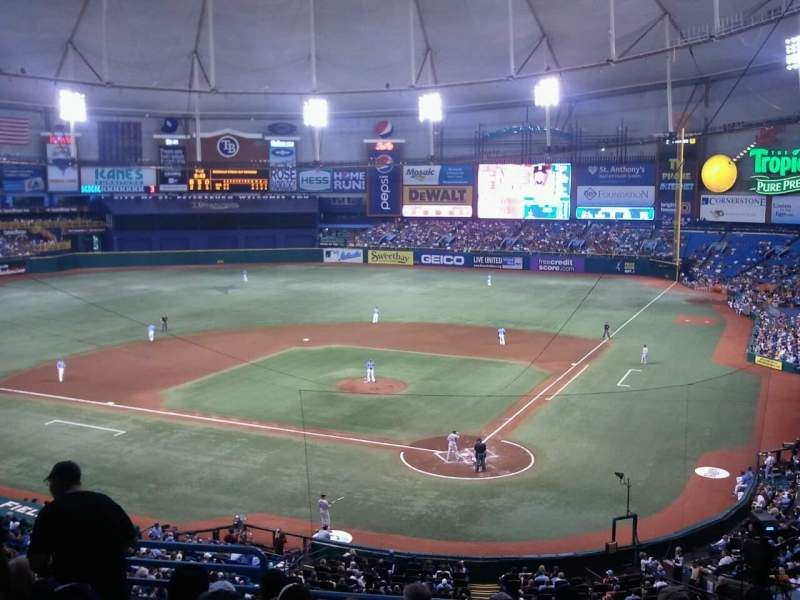 Seating view for Tropicana Field Section Club level