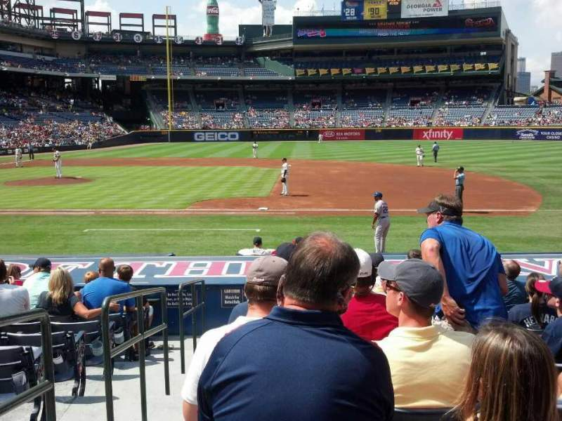 Seating view for Turner Field Section 115L Row 15 Seat 101