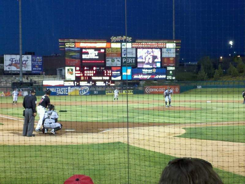 Seating view for Isotopes Park Section 104 Row E Seat 7