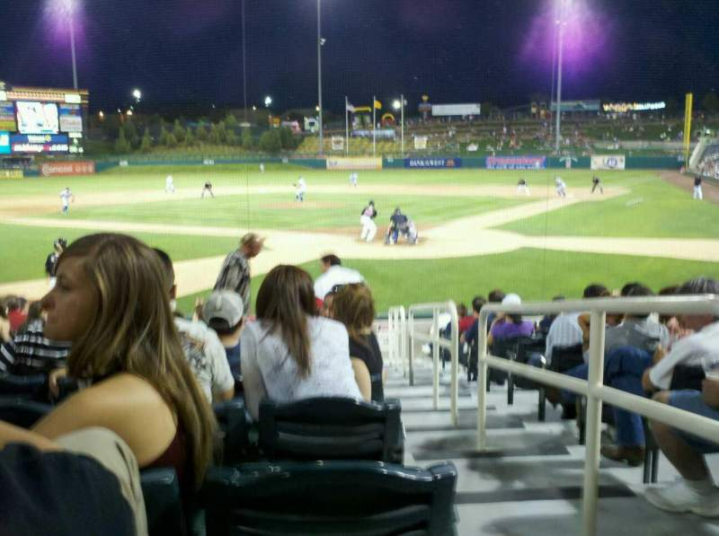 Seating view for Isotopes park Section 103 Row M Seat 1