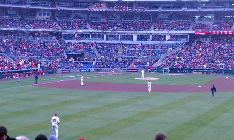 Seating view for Nationals Park Section 141 Row P Seat 21