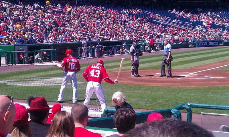 Seating view for Nationals Park Section 128 Row K Seat 15