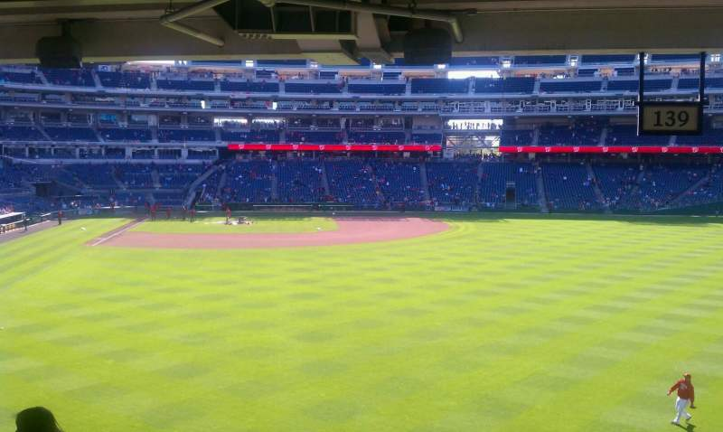 Seating view for Nationals Park Section 138 Row W Seat 13