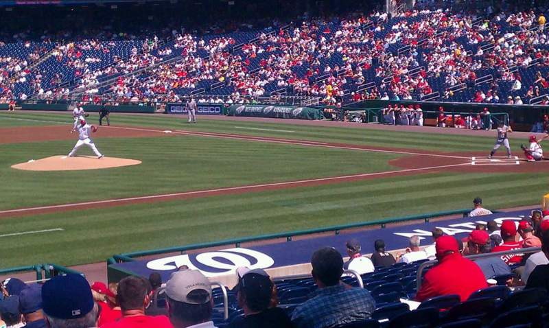 Seating view for Nationals Park Section 115 Row Z Seat 14
