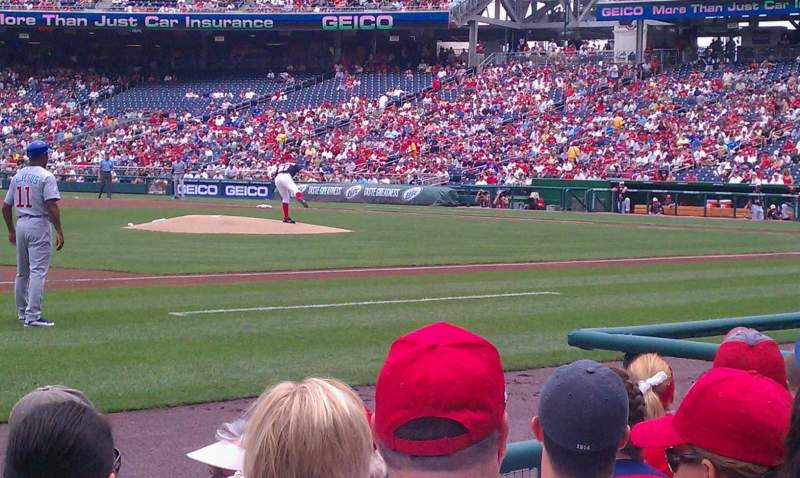 Seating view for Nationals Park Section 114 Row E Seat 1