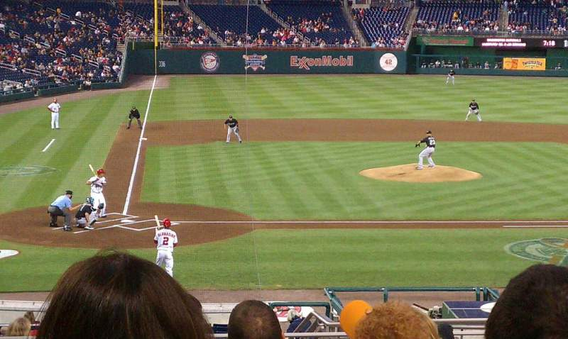 Seating view for Nationals Park Section 126 Row R Seat 6
