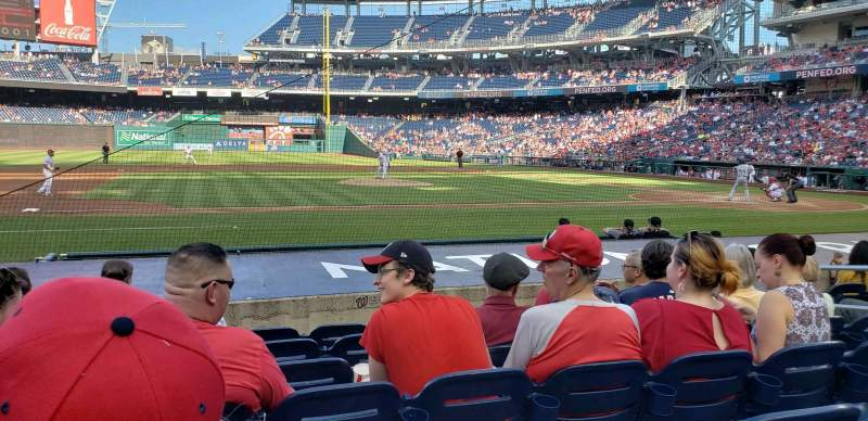 Seating view for Nationals Park Section 116 Row K Seat 9