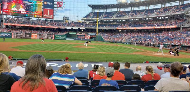 Seating view for Nationals Park Section 117 Row k Seat 11