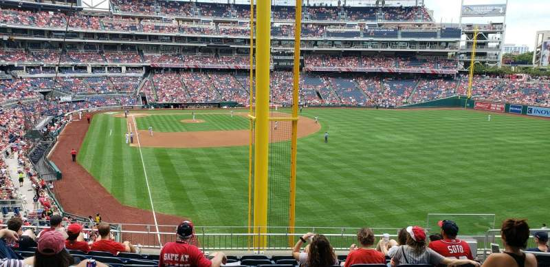 Seating view for Nationals Park Section 235 Row j Seat 7