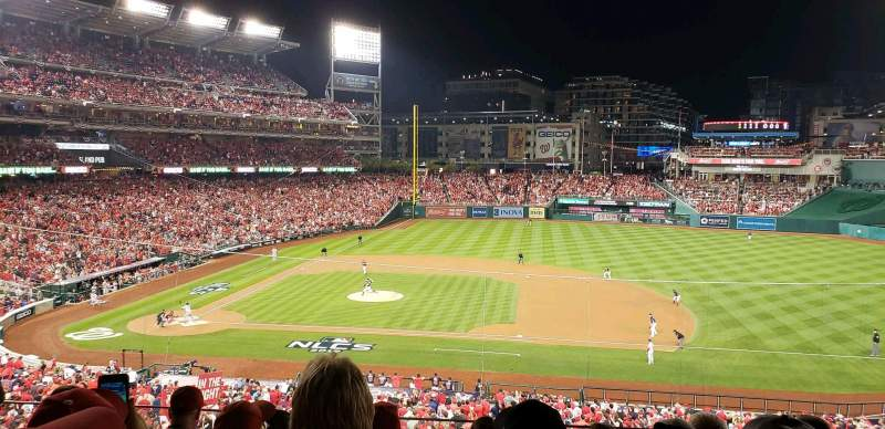 Seating view for Nationals Park Section 219 Row E Seat 5