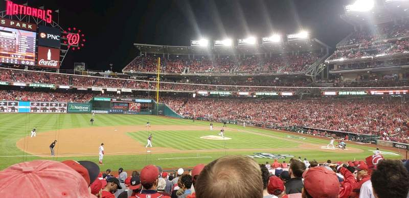 Seating view for Nationals Park Section 115 Row cc Seat 17