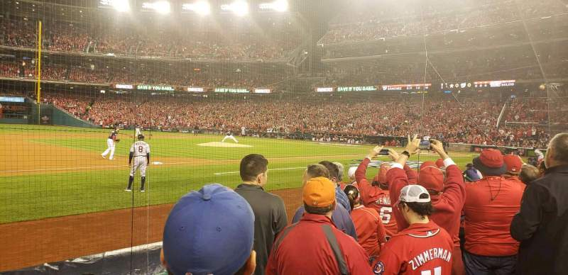 Seating view for Nationals Park Section 114 Row e Seat 2