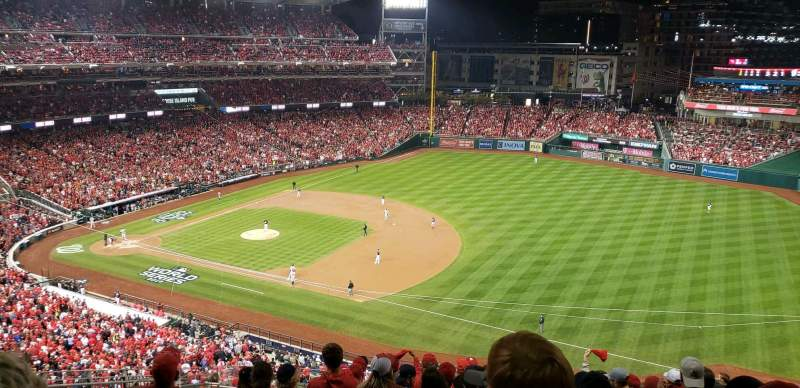 Seating view for Nationals Park Section 222 Row s Seat 18