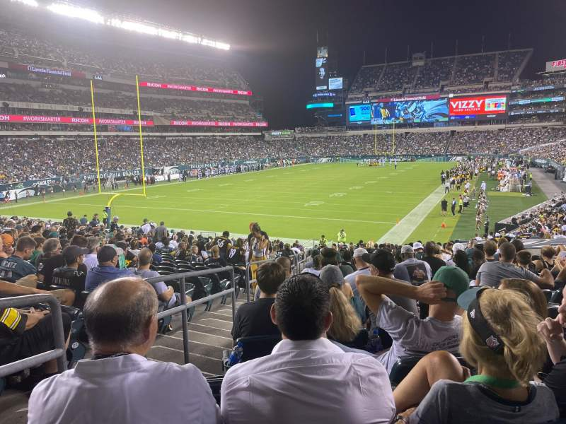 Seating view for Lincoln Financial Field Section 113 Row 26 Seat 16