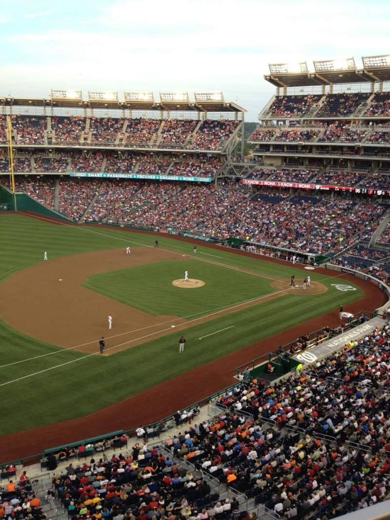 Seating view for Nationals Park Section 305 Row A Seat 15