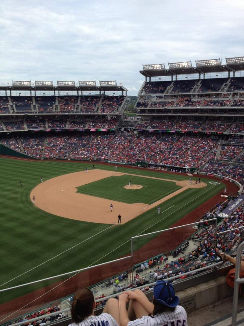 Seating view for Nationals Park Section 303 Row D Seat 6