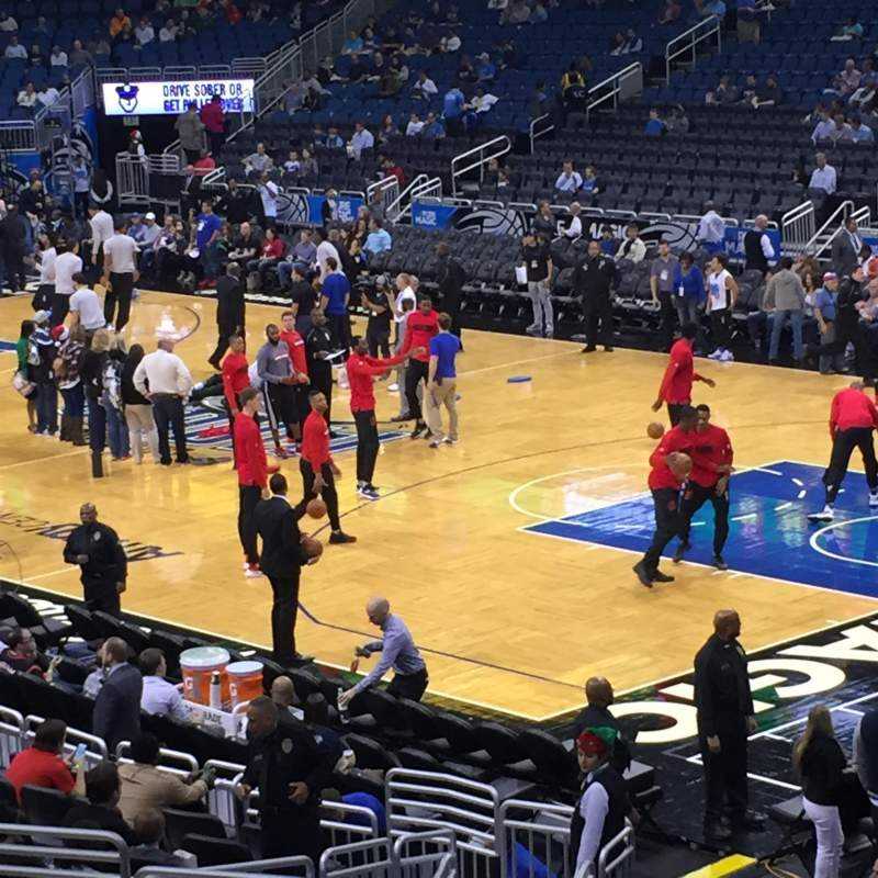Seating view for Amway Center Section 103 Row 21 Seat 14