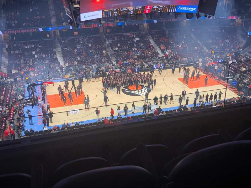Seating view for Rocket Mortgage FieldHouse Section 225 Row 3 Seat 3