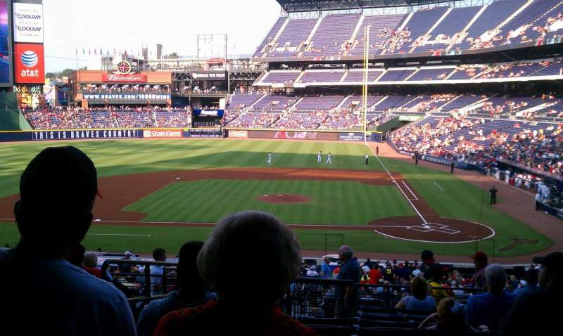 Seating view for Turner Field Section 208 Row 11 Seat 2