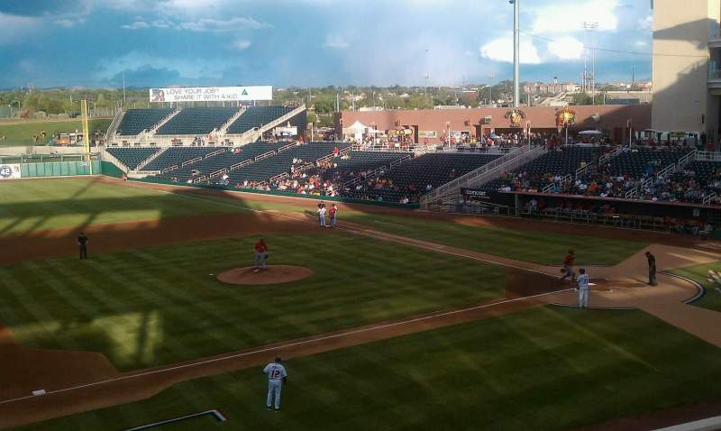 Seating view for Isotopes Park Section 201