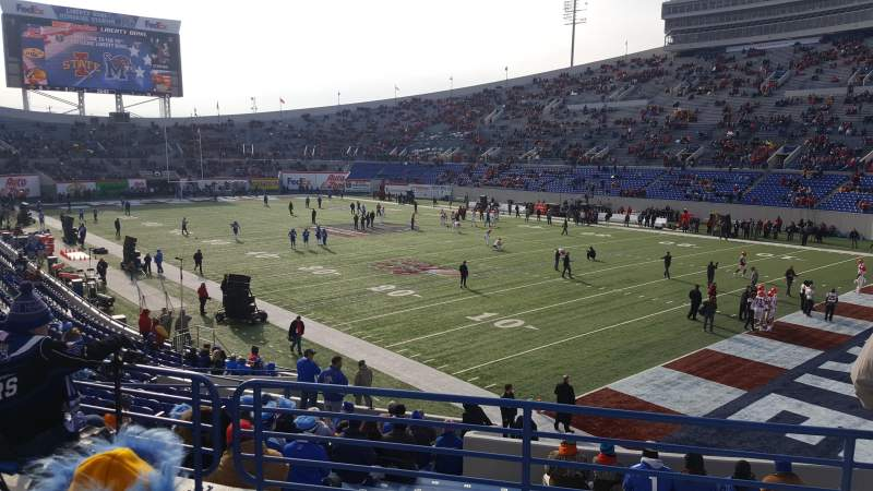 Liberty Bowl Memorial Stadium Section 116 Row 27 Seat 18