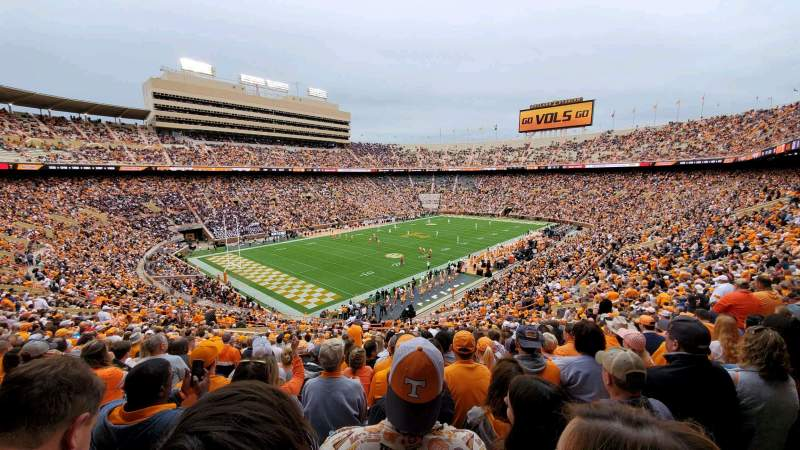 Seating view for Neyland Stadium Section X3 Row 44 Seat 25