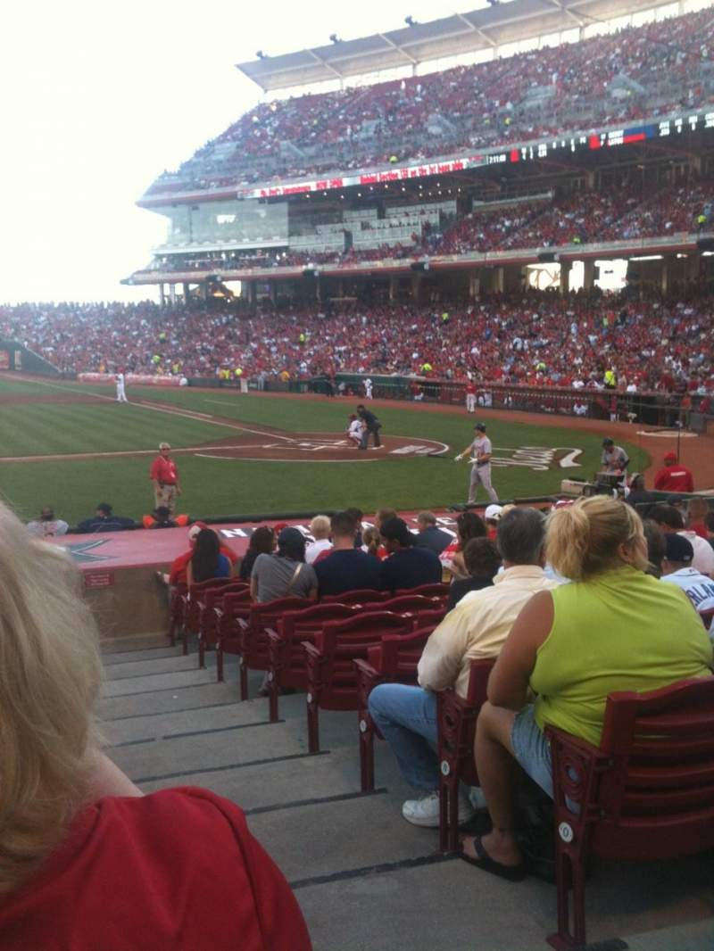 Seating view for Great American Ball Park Section 117 Row R Seat 1