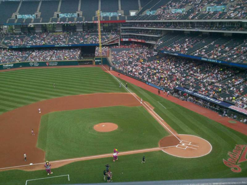 Seating view for Progressive Field Section 461 Row A Seat 4