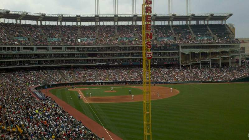 Seating view for Progressive Field Section 415 Row S Seat 4