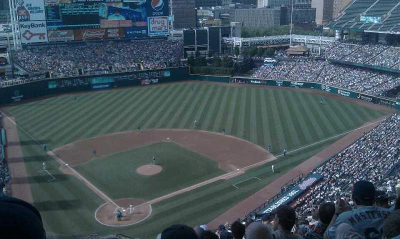 Seating view for Progressive Field Section 552 Row T Seat 21