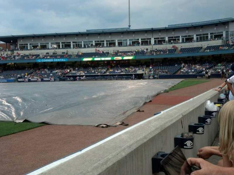 Seating view for Fifth Third Field Section 104 Row A Seat 19