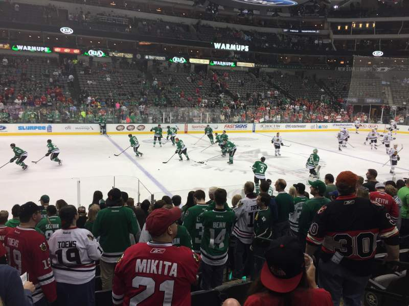 Seating view for American Airlines Center Section 120 Row L Seat 5